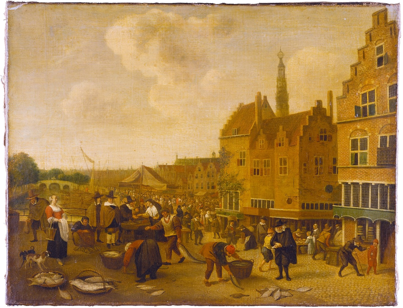 1132-jan_steen-fish_market_leyden-1646 lille