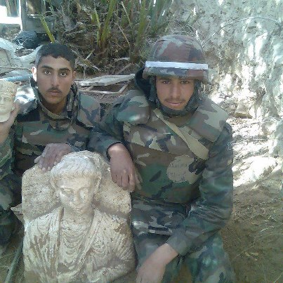 Assad soldiers in Palmyra