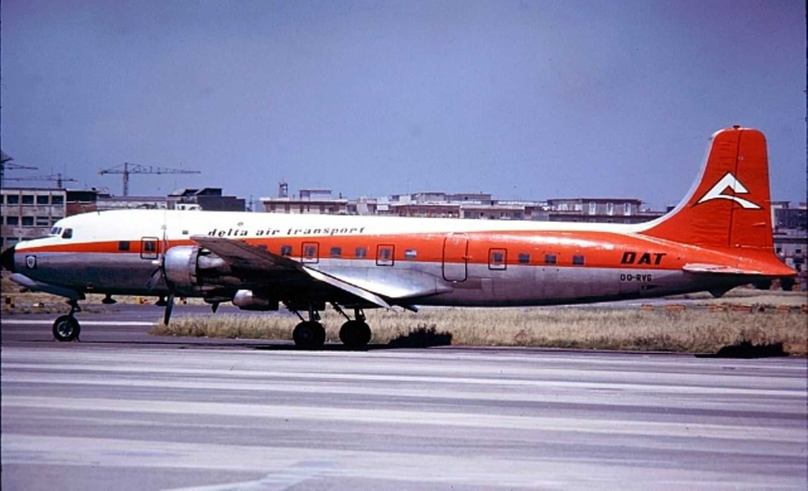Douglas DC-6B - Delta Air Transport - in Napoli1972
